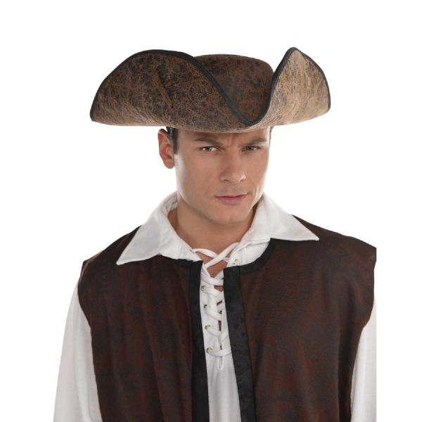 Adults Brown Ahoy Matey Hat Fancy Dress Outfit Accessory